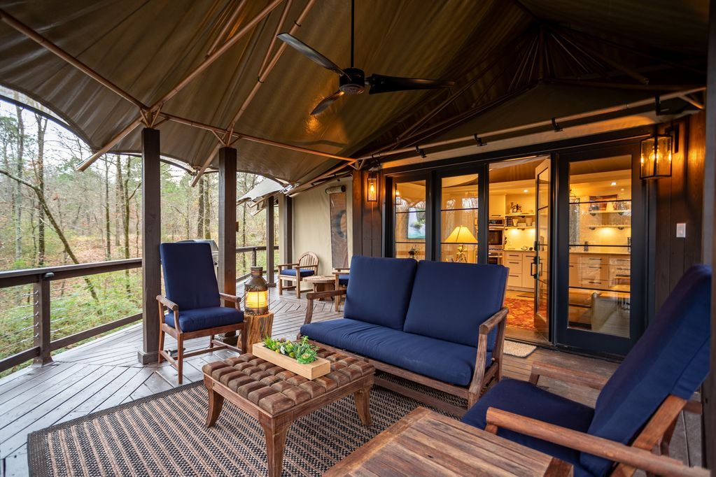 Luxury tent houses are permanent livable tents. Luxury house tents are growing in popularity as outdoor escapes become the norm. Slow down and get closer to nature with a luxury house tent.
